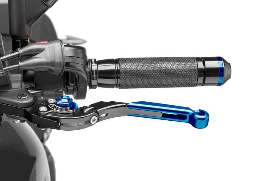 Black Puig 29NNR 2.0 Extendable Folding Clutch Lever with Red Selector