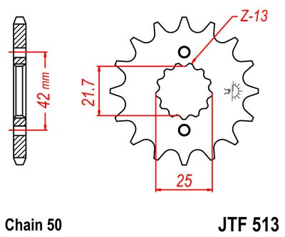 JT Sprockets JTF1579.17 17T Steel Front Sprocket