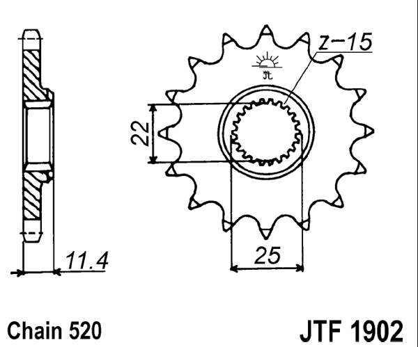 JT Sprockets JTF1902.17 17T Steel Front Sprocket