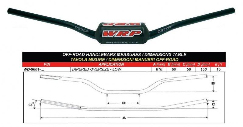 Handlebar PRO-BAR Low Black - Motorcycles / KTM / 50 / SX 50