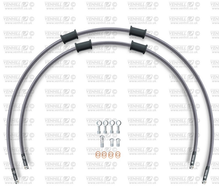 KAWASAKI ZRX1100 1997-01 VENHILL s//steel braided brake lines hoses front