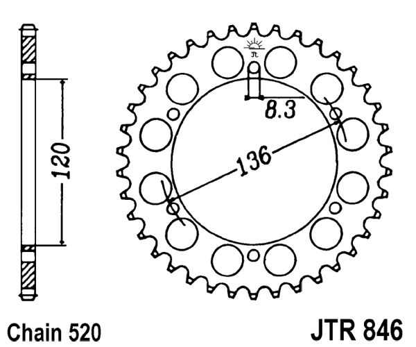 Rear Sprocket 45t 520