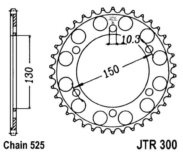 Rear Sprocket 47t 525