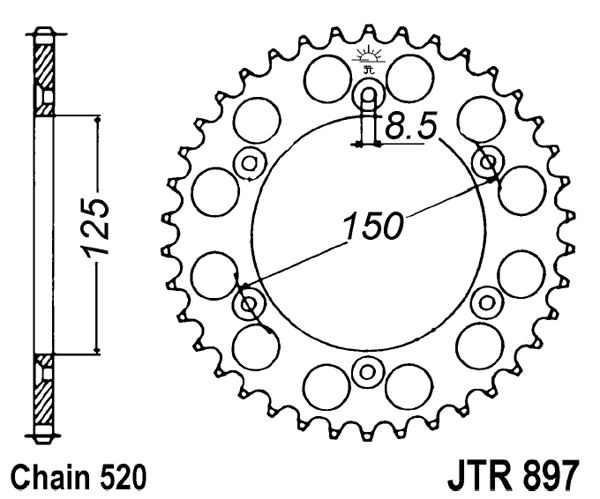 rear sprocket 44t 520 motorcycles ktm 400 lc4 400 enduro 2018 KTM 690 Enduro for ktm lc4 400 enduro 1997 2002