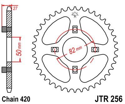 JT JTR256.35 Steel Rear Sprocket 35T
