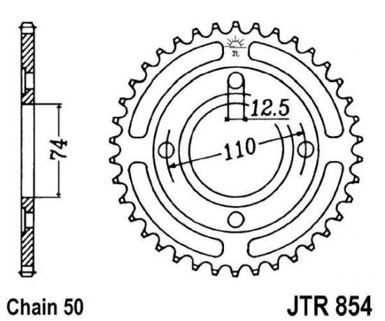 JT Sprockets JTR854.39 39T Steel Rear Sprocket