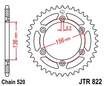 JT Sprockets JTR302.45 45T Steel Rear Sprocket
