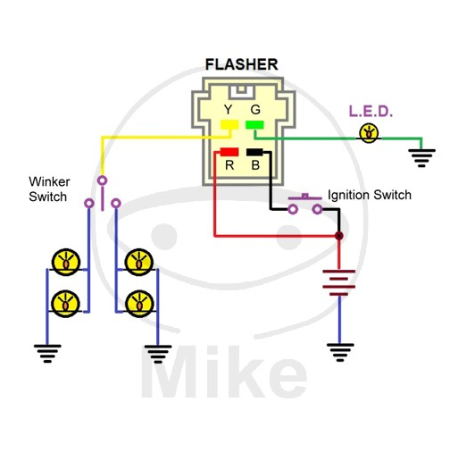 4 Pin Flasher Diagram - talk about wiring diagram  Prong Trailer Wiring Schematic For on